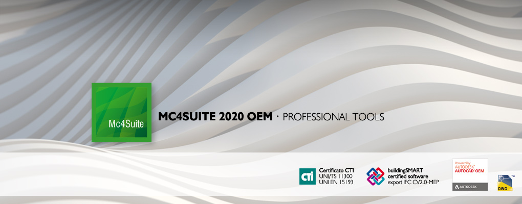 Mc4Suite 2020. Il software BIM con AutoCAD OEM incluso